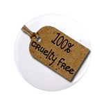 "1oo% Cruelty Free 2 3.5"" Button (100 pack)"