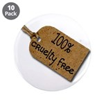 "1oo% Cruelty Free 2 3.5"" Button (10 pack)"
