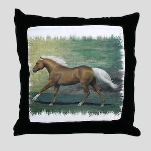 Palomino Stallion Throw Pillow