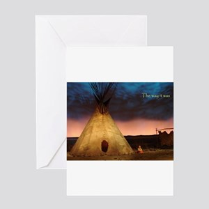 Native american indian greeting cards cafepress teepee greeting cards m4hsunfo