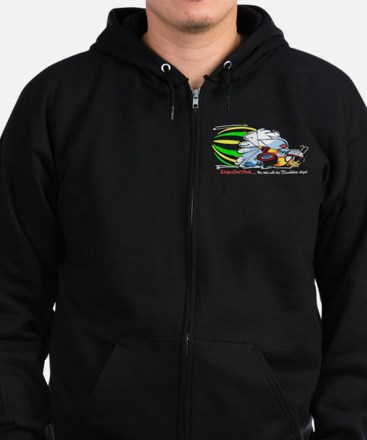 Scat Pack - Cars with Bumble Bee Stripes Zip Hoodie