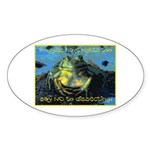Froggies Have Rights Too Sticker (Oval 10 pk)