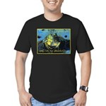 Froggies Have Rights Too Men's Fitted T-Shirt (dar
