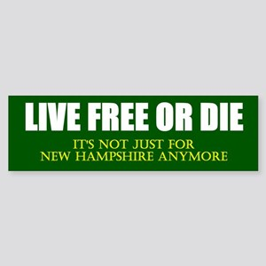 Live Free or Die Sticker (Bumper)