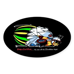 Scat Pack - Cars with Bumble Sticker (Oval)