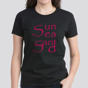 Sun,Sea,Sand Women's Dark T-Shirt