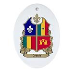 CREOLE Shield Oval Ornament