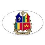 CREOLE Shield Oval Sticker
