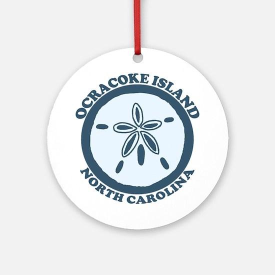 Ocracoke Island - Sandollar Design Ornament (Round