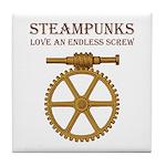 Steampunk Endless Screw Tile Coaster