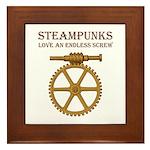 Steampunk Endless Screw Framed Tile