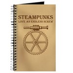 Steampunk Endless Screw Journal