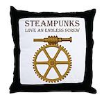 Steampunk Endless Screw Throw Pillow