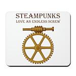 Steampunk Endless Screw Mousepad