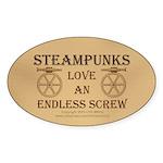 Steampunk Endless Screw Sticker (Oval)