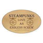 Steampunk Endless Screw Sticker (Oval 10 pk)