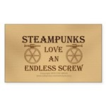 Steampunk Endless Screw Sticker (Rectangle)
