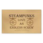 Steampunk Endless Screw Sticker (Rectangle 50 pk)