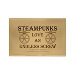 Steampunk Endless Screw Rectangle Magnet (10 pack)