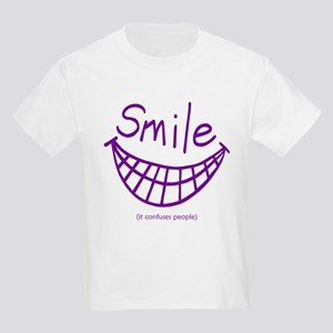 Funny Smile It Confuses People Kids Light T-Shirt