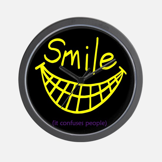 Funny Smile It Confuses People Wall Clock