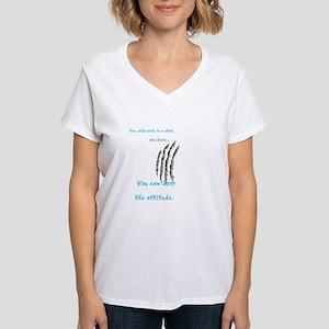Drop the attitude Women's V-Neck T-Shirt