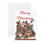 Xmas Meerkats Greeting Card
