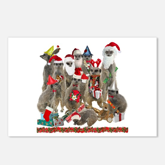 Xmas Meerkats Postcards (Package of 8)