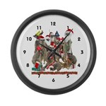 Xmas Meerkats Large Wall Clock