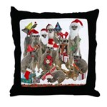 Xmas Meerkats Throw Pillow