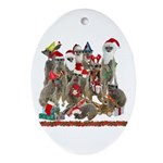 Xmas Meerkats Ornament (Oval)