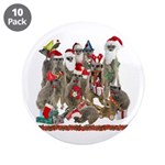 "Xmas Meerkats 3.5"" Button (10 pack)"