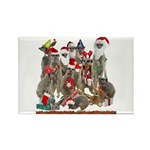 Xmas Meerkats Rectangle Magnet (10 pack)