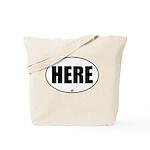 Location Sticker-Here Tote Bag