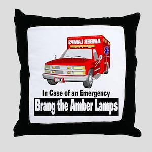 Brang The Amber Lamps Throw Pillow