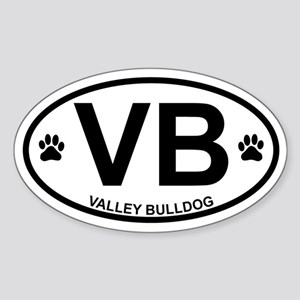 Valley Bulldog Sticker (Oval)