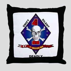 1st Recon Throw Pillow
