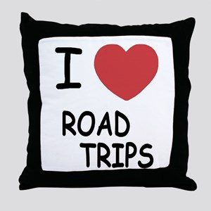 I heart road trips Throw Pillow