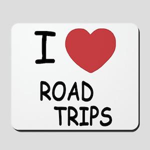 I heart road trips Mousepad
