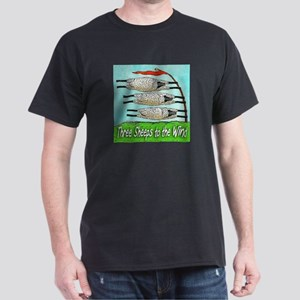 Three Sheeps to the Wind Black T-Shirt