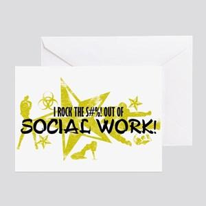 I ROCK THE S#%! - SOCIAL WORK Greeting Cards (Pk o