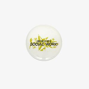 I ROCK THE S#%! - SOCIAL WORK Mini Button
