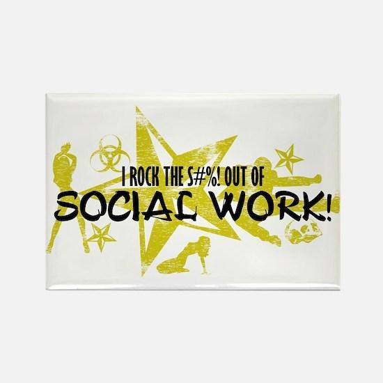 I ROCK THE S#%! - SOCIAL WORK Rectangle Magnet