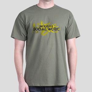 I ROCK THE S#%! - SOCIAL WORK Dark T-Shirt