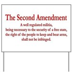 The Second Amendment Yard Sign