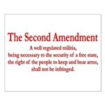 The Second Amendment Small Poster