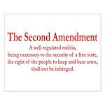 The Second Amendment Small Poster