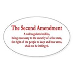 The Second Amendment Sticker (Oval 50 pk)