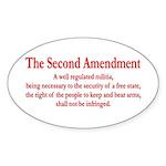 The Second Amendment Sticker (Oval 10 pk)
