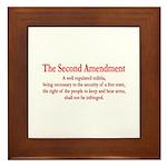 The Second Amendment Framed Tile